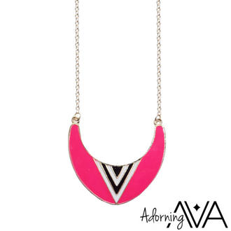 View Item Pink Neon Curve Necklace